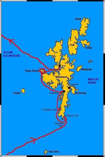 Carte Islande Orcades Feroe